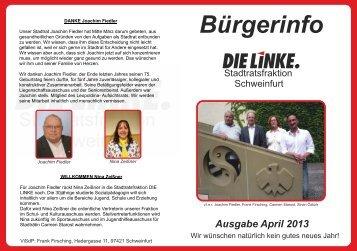 7. Ausgabe der Broschüre - DIE LINKE Schweinfurt