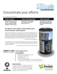 Our special formula - The Liberty Lake Splash