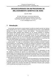 BIOSSEGURIDADE EM UM PROGRAMA DE MELHORAMENTO ...