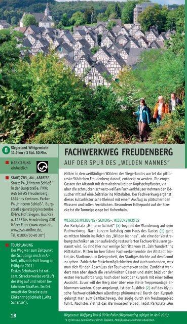FACHWERKWEG FREUDENBERG - Wittgensteiner Wanderland