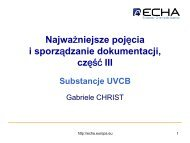 Substancje UVCB - Europa