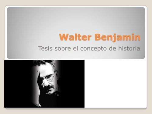 Walter Benjamin - Hecho Histórico