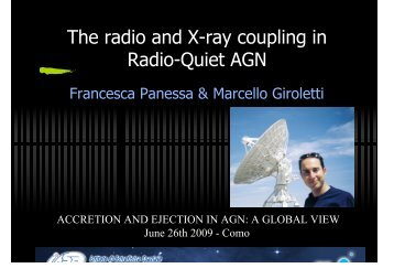 The radio and X-ray coupling in Radio-Quiet AGN - Accretion and ...