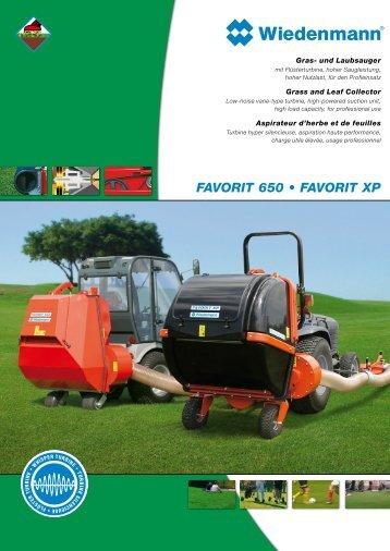 FAVORIT 650 • FAVORIT XP - Wiedenmann  GmbH