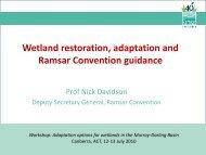 Wetland restoration, adaptation and Ramsar Convention guidance