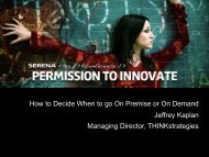 How to Decide When to go On Premise or On ... - Serena Software