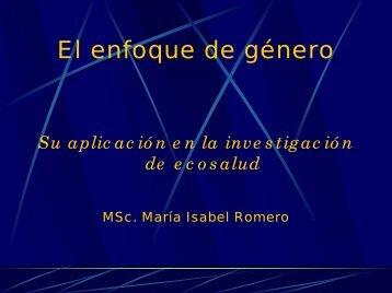 El enfoque de género. Su aplicación en la ... - Cubaenergia