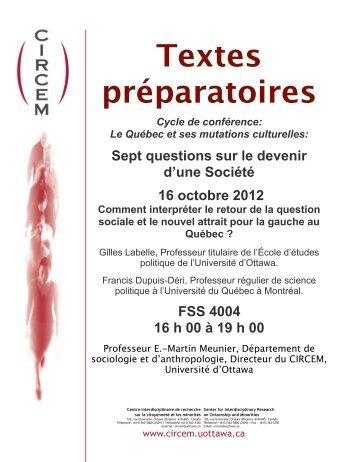 16 Thèses - Faculté des sciences sociales - Université d'Ottawa