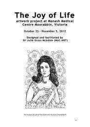 The Joy of Life artwork project at Monash Medical Centre Moorabbin