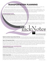 quick notes - American Planning Association