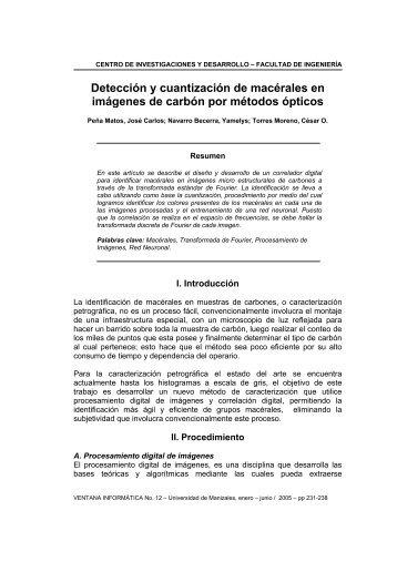 Detección y cuantización de macérales en imágenes de carbón por ...