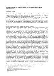 Krankenhausseelsorge und Klinische Seelsorgeausbildung (KSA)