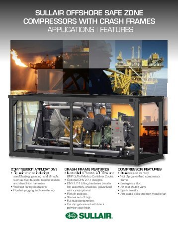 sullair offshore safe zone compressors with crash frames ...