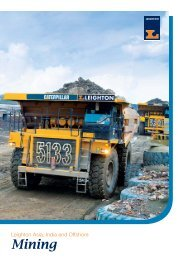 Contract mining services - Leighton Asia