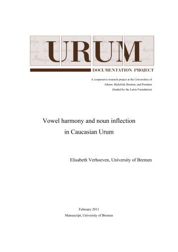 Vowel harmony and noun inflection in Caucasian Urum