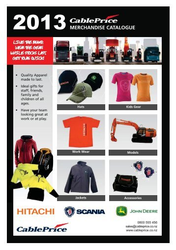 MERCHANDISE CATALOGUE - CablePrice