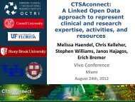 CTSAconnect: A Linked Open Data approach to represent ... - VIVO
