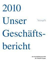 Der Geschäftsbericht 2010 der Stämpfli Gruppe