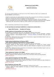 Relevé de conclusions de la plénière d'avril 2011 - Commission des ...