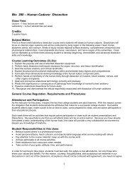 Bio 280 Summer 2012 Syllabus