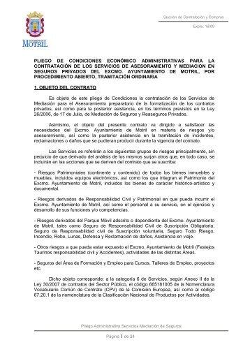 pliego administrativo servicio mediacion - Ayuntamiento de Motril