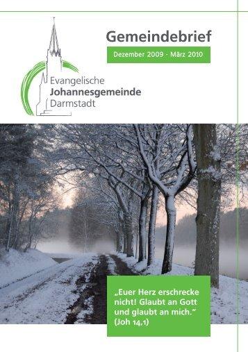 Gemeindebrief - Ev. Johannesgemeinde Darmstadt