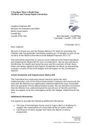 Letter to the Minister for Education and Skills (PDF 175KB) - senedd ...