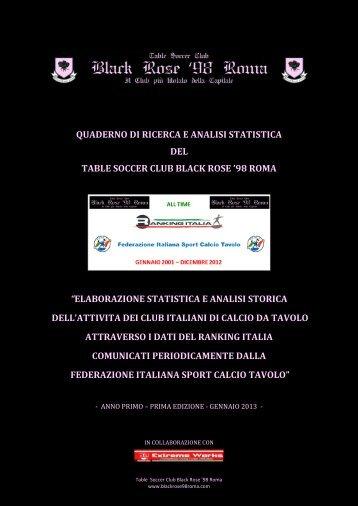 TIME RANKING ITALIA: GENNAIO 2001 - DICEMBRE 2012 - Anno I