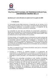 política institucional de propiedad intelectual universidad andrés bello