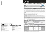 WRA 101-S9/S9N AUTOMATIC SPRAY GUN - Anest Iwata