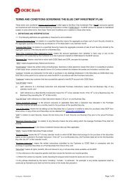 BCIP terms and conditions - OCBC Bank