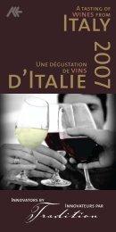 View the 2007 catalogue (pdf) - Délégation Commerciale d'Italie