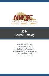 Training Catalog - National White Collar Crime Center
