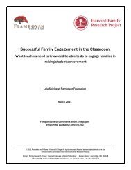 Successful Family Engagement in the Classroom - Harvard Family ...