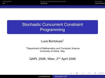 Stochastic Concurrent Constraint Programming