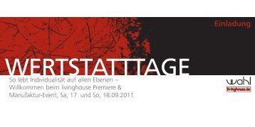 WERTSTATTTAGE - Sanitär Wahl GmbH