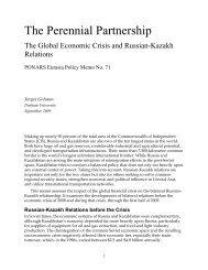 The Perennial Partnership - PONARS Eurasia