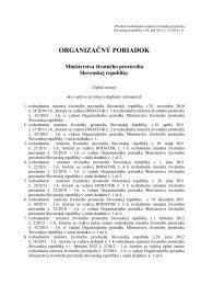 Organizačný poriadok (pdf, 639 kB) - Ministerstvo životného prostredia