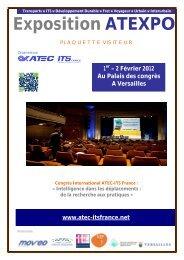 Plaquette visiteurs ATEXPO 2012 - Atec/ITS France