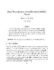 Linear Regression with a Dependent Skewed Dirichlet Process 1 ...