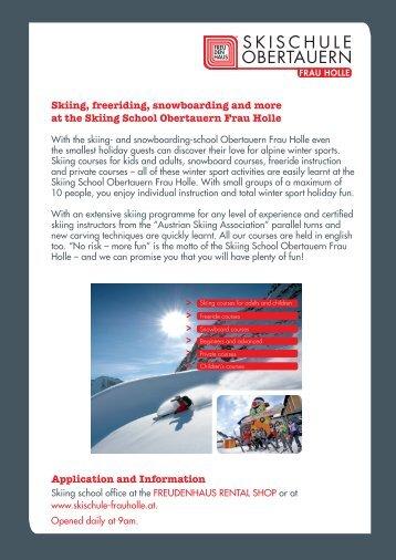 Skiing School Obertauern Frau Holle Prices 2012-13 ... - Freudenhaus