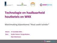Verkrijgbaarheid hout & ketel - Energiek2020