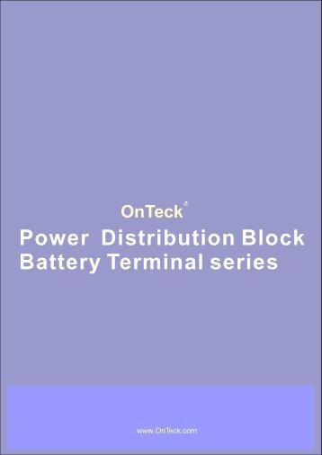 Power distribution block & battery terminal 2008+ - OnTeck