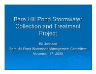 Bare Hill Pond Stormwater Management Project - Town of Harvard