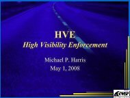 HVE High Visibility Enforcement