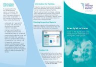 Information leaflet about the registration and inspection ... - hiqa.ie