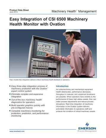 Easy Integration of CSI 6500 Machinery Health Monitor with ... - PCMS