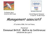 Le management associatif - Comité régional olympique et sportif de ...