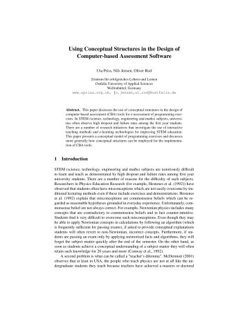 Using Conceptual Structures in the Design of Computer ... - Uta Priss