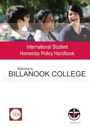 to download our Homestay Information Booklet - Billanook College